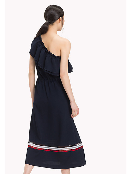 TOMMY HILFIGER Signature Mesh One Shoulder Dress - MIDNIGHT - TOMMY HILFIGER Maxi - detail image 1