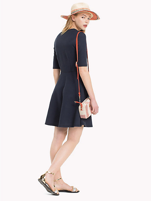 TOMMY HILFIGER Contrast Neckline Skater Dress - MIDNIGHT - TOMMY HILFIGER Dresses - detail image 1