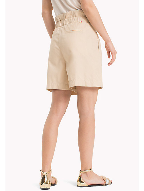TOMMY HILFIGER Sack Waist Safari Style Shorts - WARM SAND - TOMMY HILFIGER Trousers & Shorts - detail image 1