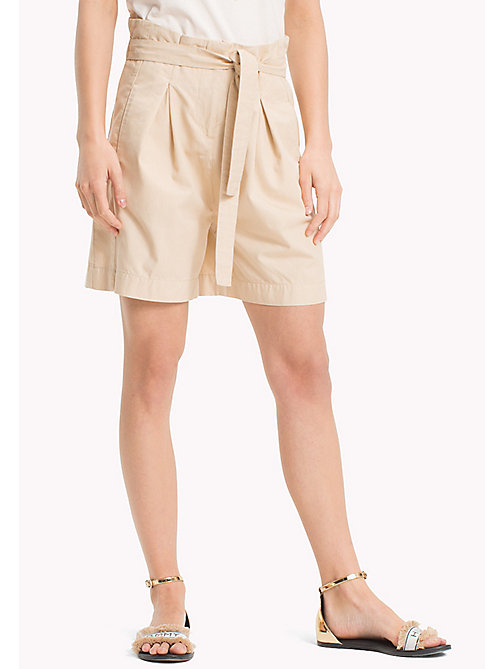 TOMMY HILFIGER Sack Waist Safari Style Shorts - WARM SAND - TOMMY HILFIGER Vacation Style - main image