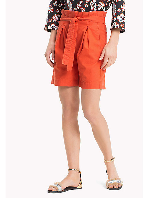 TOMMY HILFIGER Sack Waist Safari Style Shorts - SUMMER FIG 17-1450 TCX - TOMMY HILFIGER Vacation Style - main image