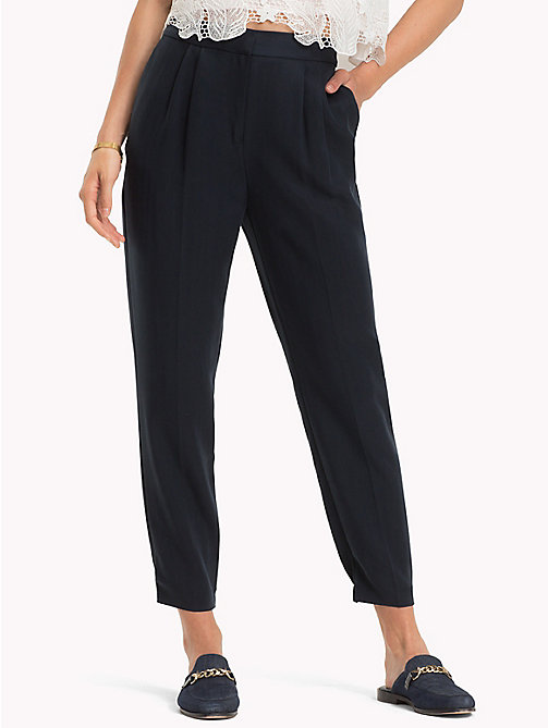 TOMMY HILFIGER Cigarette Style Trousers - MIDNIGHT - TOMMY HILFIGER Trousers - main image