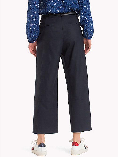 TOMMY HILFIGER Pinstriped Cropped Trousers - MIDNIGHT - TOMMY HILFIGER Cropped Trousers - detail image 1
