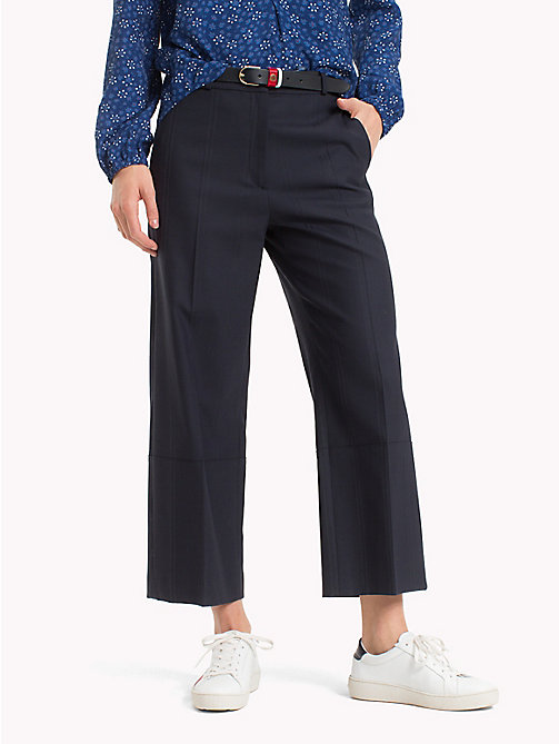 TOMMY HILFIGER Pinstriped Cropped Trousers - MIDNIGHT - TOMMY HILFIGER Sale Women - main image