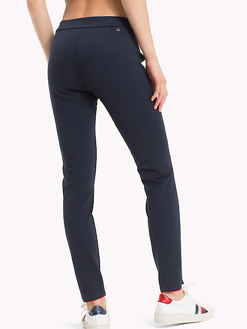 TOMMY HILFIGER Slim Fit Side Stripe Leggings - MIDNIGHT - TOMMY HILFIGER Trousers & Shorts - detail image 1