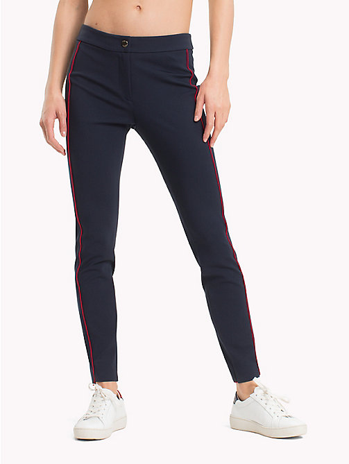 TOMMY HILFIGER Slim Fit Side Stripe Leggings - MIDNIGHT - TOMMY HILFIGER Trousers & Shorts - main image