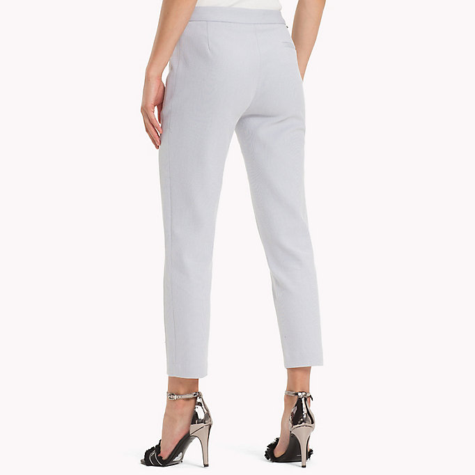 TOMMY HILFIGER Twist Cotton Ankle Length Trousers - MIDNIGHT - TOMMY HILFIGER Women - detail image 1