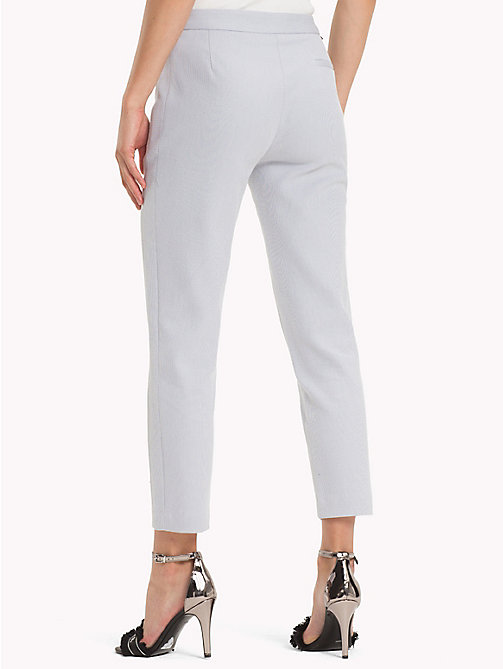 TOMMY HILFIGER Twist Cotton Ankle Length Trousers - EVENTIDE - TOMMY HILFIGER Black Friday Women - detail image 1
