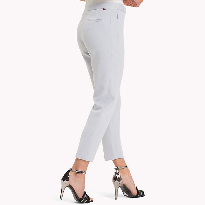 TOMMY HILFIGER Twist Cotton Ankle Length Trousers - MIDNIGHT - TOMMY HILFIGER Women - detail image 2