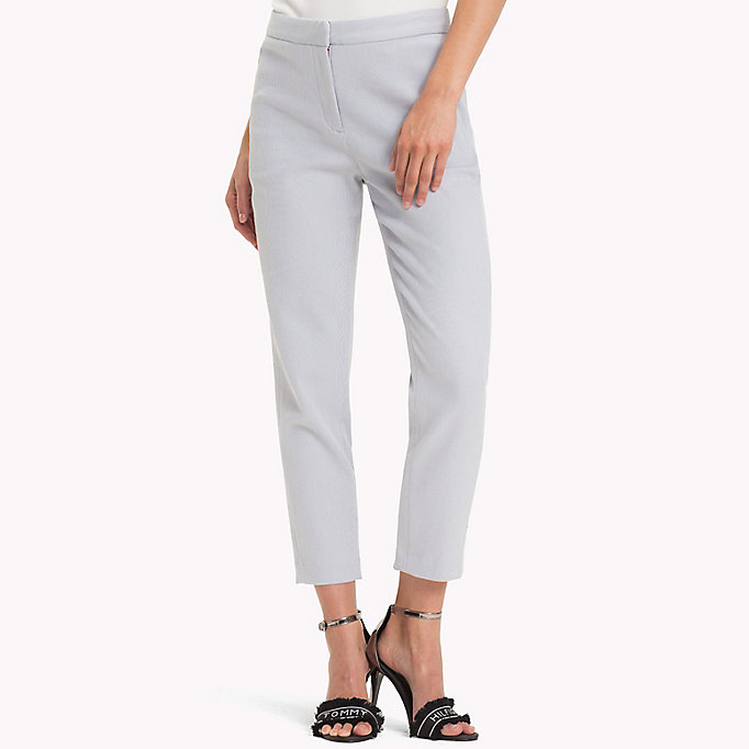 TOMMY HILFIGER Twist Cotton Ankle Length Trousers - MIDNIGHT - TOMMY HILFIGER Women - main image