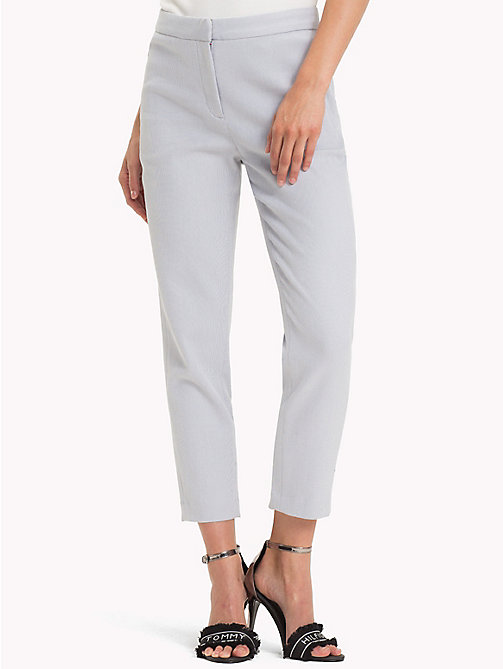 TOMMY HILFIGER Twist Cotton Ankle Length Trousers - EVENTIDE - TOMMY HILFIGER Black Friday Women - main image