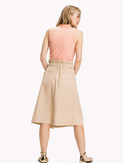 TOMMY HILFIGER Wrap Around Midi-Skirt - WARM SAND - TOMMY HILFIGER Vacation Style - detail image 1