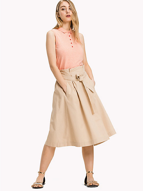 TOMMY HILFIGER Wrap Around Midi-Skirt - WARM SAND - TOMMY HILFIGER Vacation Style - main image