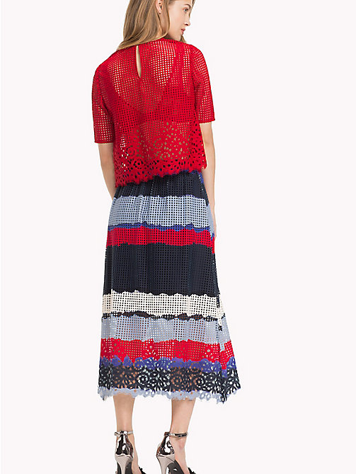 TOMMY HILFIGER Gonna midi in pizzo entre deux - LACE TIE DYE STP / SKY CAPTAIN - TOMMY HILFIGER Occasion wear - dettaglio immagine 1