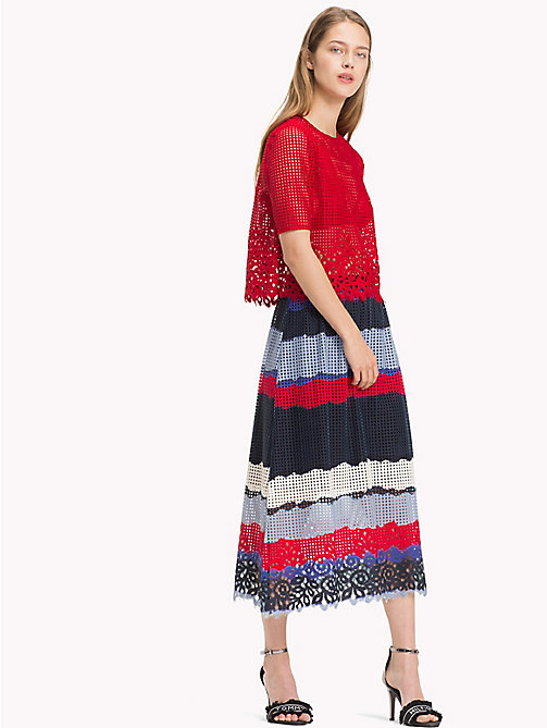TOMMY HILFIGER Gonna midi in pizzo entre deux - LACE TIE DYE STP / SKY CAPTAIN - TOMMY HILFIGER Occasion wear - immagine principale