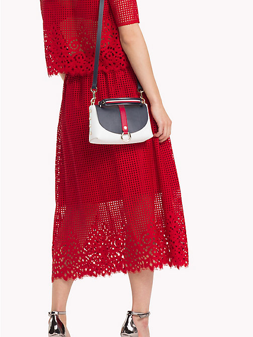 TOMMY HILFIGER Entredeux Lace Midi Skirt - POMPEIAN RED - TOMMY HILFIGER Tommy Days Women - detail image 1