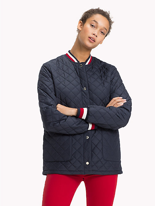 TOMMY HILFIGER Signature Stripe Padded Bomber Jacket - MIDNIGHT - TOMMY HILFIGER Coats & Jackets - main image
