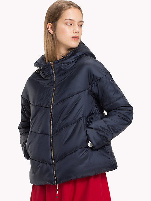 TOMMY HILFIGER Hooded Puffer Jacket - MIDNIGHT - TOMMY HILFIGER Tommy Days Women - main image