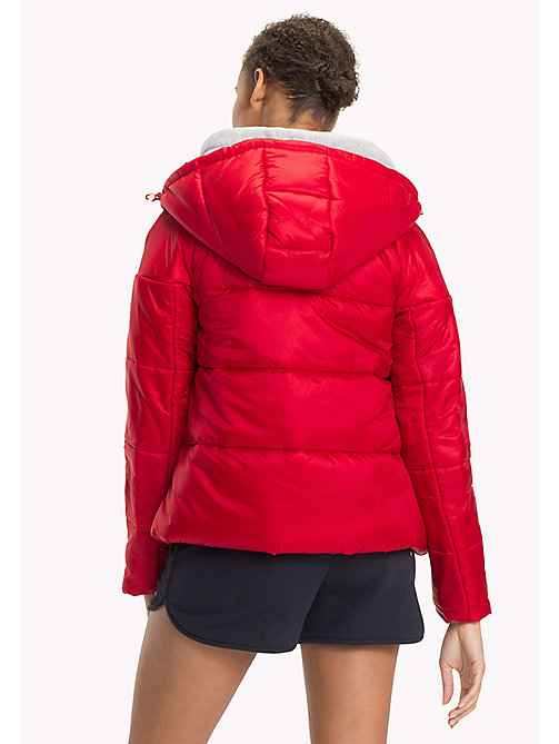 TOMMY HILFIGER Hooded Puffer Jacket - POMPEIAN RED -  Jackets - detail image 1