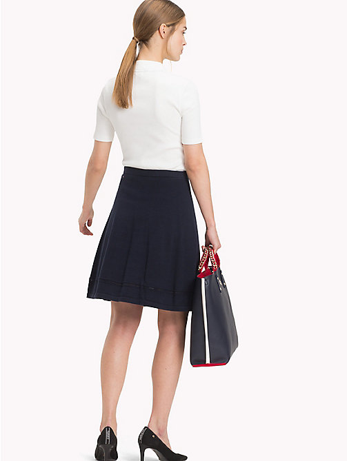 TOMMY HILFIGER Organic Cotton Ladder Skirt - MIDNIGHT - TOMMY HILFIGER Sustainable Evolution - detail image 1