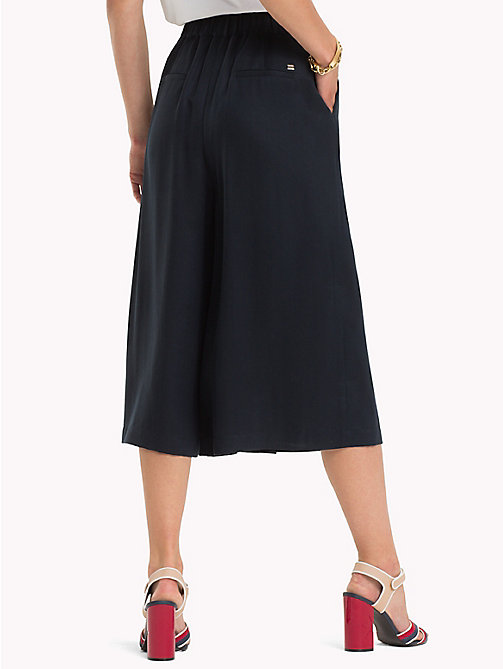 TOMMY HILFIGER Wide Leg Culottes - MIDNIGHT - TOMMY HILFIGER Trousers - detail image 1