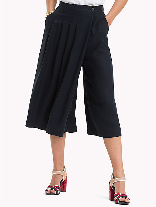 TOMMY HILFIGER Wide Leg Culottes - MIDNIGHT - TOMMY HILFIGER Trousers - main image