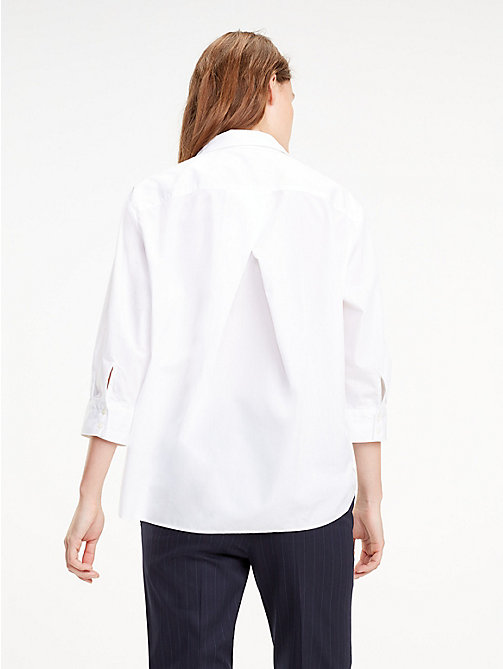TOMMY HILFIGER Blusa con nudo - CLASSIC WHITE - TOMMY HILFIGER Tommy Days Mujer - imagen detallada 1