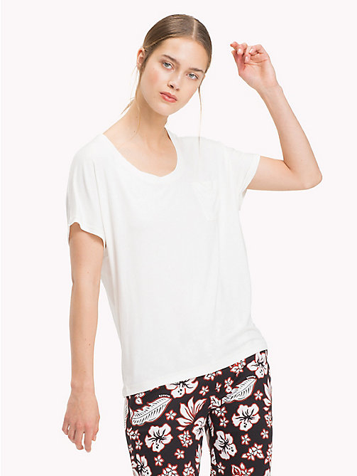 TOMMY HILFIGER Scoop Neck Plain T-Shirt - SNOW WHITE - TOMMY HILFIGER NEW IN - main image