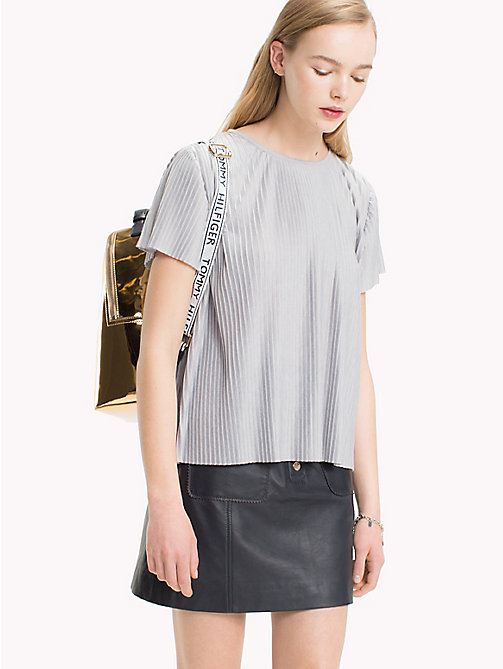 TOMMY HILFIGER Falten-T-Shirt - LIGHT GREY HTR - TOMMY HILFIGER Tops - main image