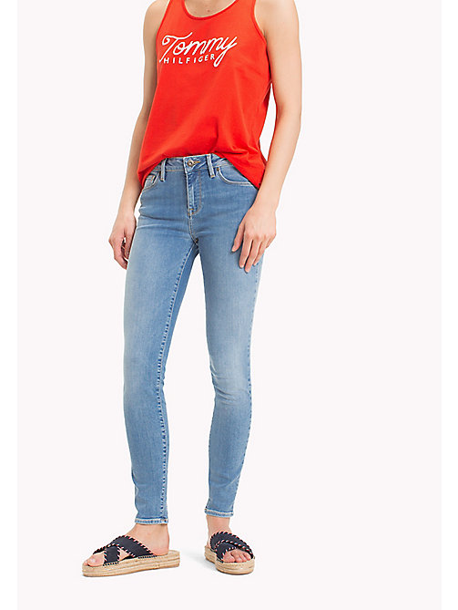 TOMMY HILFIGER Super Slim Jeans with Turn Up - LILOU - TOMMY HILFIGER Vacation Style - main image