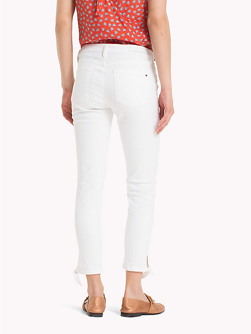 TOMMY HILFIGER Ankle Bow Super Slim Jeans - CLASSIC WHITE - TOMMY HILFIGER NEW IN - detail image 1