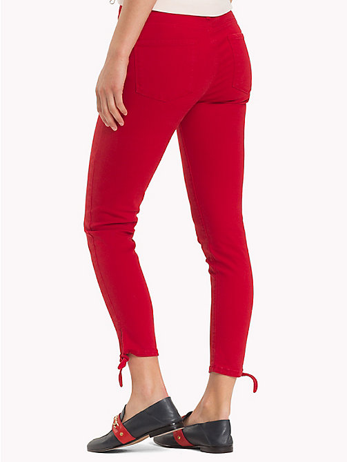 TOMMY HILFIGER Ankle Bow Skinny Jeans - POMPEIAN RED - TOMMY HILFIGER Black Friday Women - detail image 1