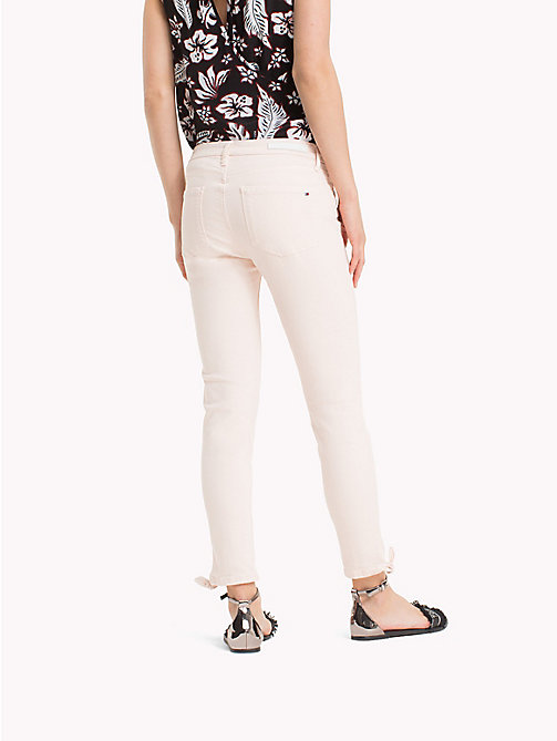 TOMMY HILFIGER Ankle Bow Super Slim Jeans - SILVER PEONY - TOMMY HILFIGER Skinny Jeans - detail image 1