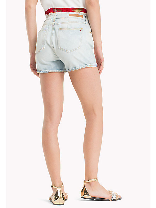 TOMMY HILFIGER Roll-Hem Super Stretch Denim Shorts - HOLLIS - TOMMY HILFIGER Vacation Style - detail image 1