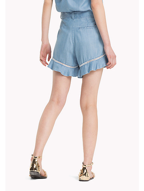 TOMMY HILFIGER High Waisted Flare Hem Shorts - MABRY - TOMMY HILFIGER Vacation Style - detail image 1