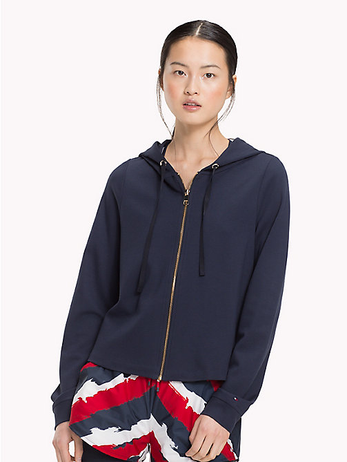 TOMMY HILFIGER Racing Stripe Hoodie - MIDNIGHT - TOMMY HILFIGER Sale Women - main image