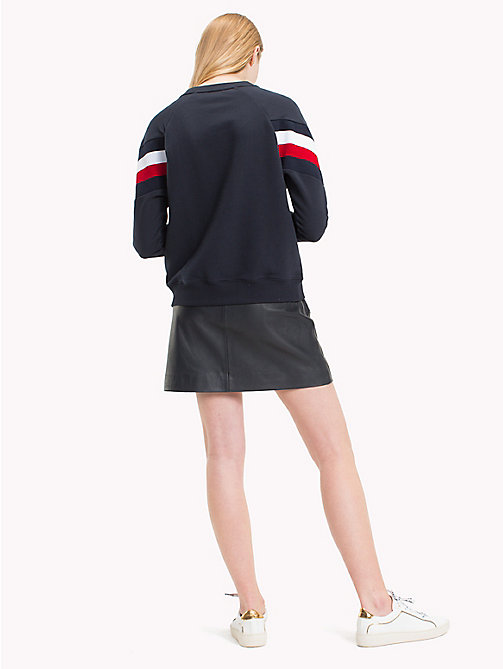 TOMMY HILFIGER Oversized sweater met signature-streep - MIDNIGHT - TOMMY HILFIGER Sweatshirts - detail image 1