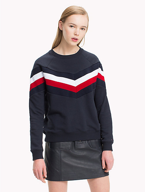 TOMMY HILFIGER Oversized sweater met signature-streep - MIDNIGHT - TOMMY HILFIGER Sweatshirts - main image