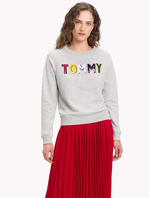 TOMMY HILFIGER Tommy Design Oversized Sweatshirt - LIGHT GREY HTR - TOMMY HILFIGER Sweatshirts - main image