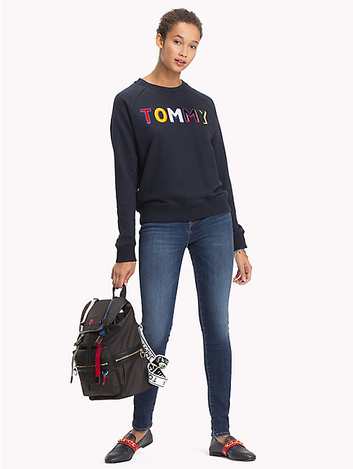TOMMY HILFIGER Tommy Design Oversized Sweatshirt - MIDNIGHT - TOMMY HILFIGER NEW IN - main image