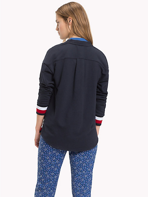 TOMMY HILFIGER Signature Tape Cardigan - MIDNIGHT - TOMMY HILFIGER NEW IN - detail image 1