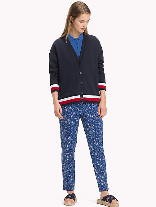 TOMMY HILFIGER Signature Tape Cardigan - MIDNIGHT - TOMMY HILFIGER NEW IN - main image