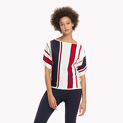 TOMMY HILFIGER  - SNOW WHITE / MIDNIGHT / POMPEIAN RED -   - immagine principale
