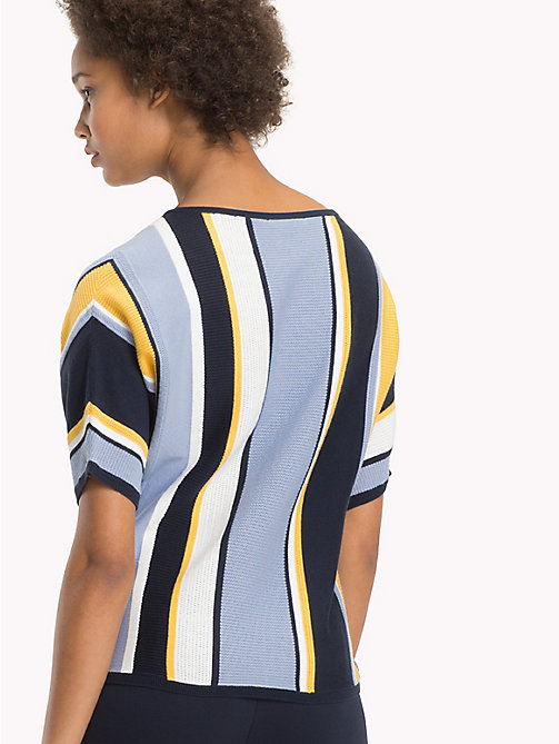 TOMMY HILFIGER Stripe Batwing T-Shirt - MIDNIGHT / EVENTIDE / SAMOAN SUN STP - TOMMY HILFIGER NEW IN - detail image 1