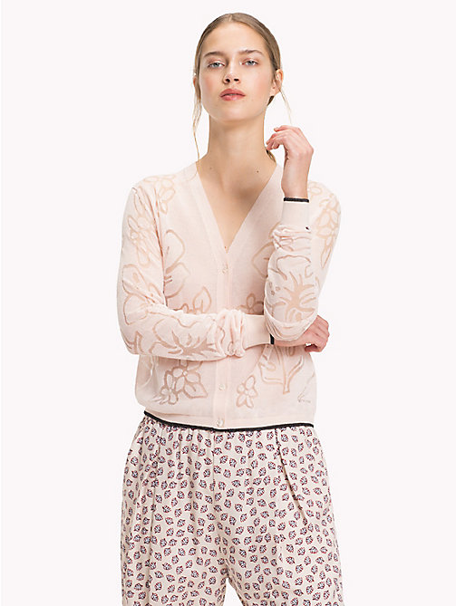 TOMMY HILFIGER Cardigan floreale - SILVER PEONY - TOMMY HILFIGER Cardigan - immagine principale