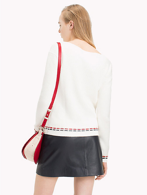 TOMMY HILFIGER Deconstructed Stitch Jumper - SNOW WHITE - TOMMY HILFIGER Jumpers - detail image 1