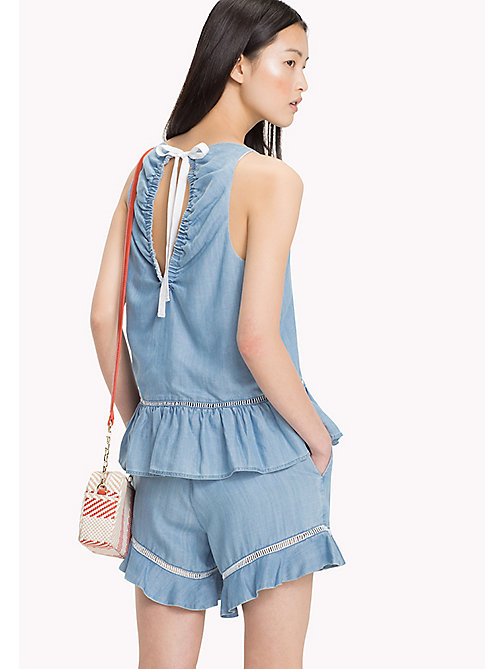 TOMMY HILFIGER Self-Tie Peplum Tank Top - MABRY - TOMMY HILFIGER Tops - detail image 1