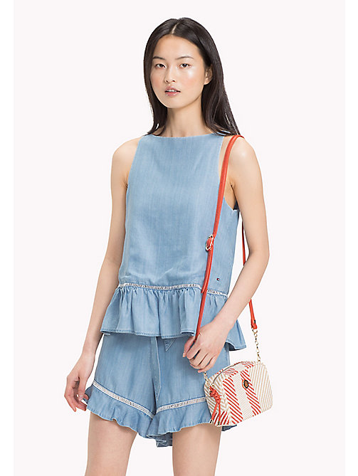 TOMMY HILFIGER Self-Tie Peplum Tank Top - MABRY - TOMMY HILFIGER Tops - main image