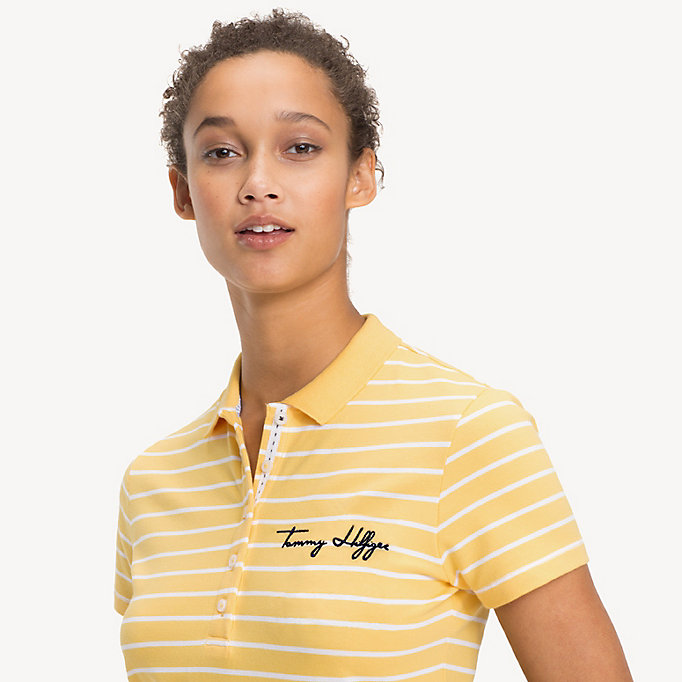 TOMMY HILFIGER NEW CHIARA HERITAGE STR PQ POLO SS STP - SILVER PEONY / CLASSIC WHITE STP - TOMMY HILFIGER Damen - main image 2