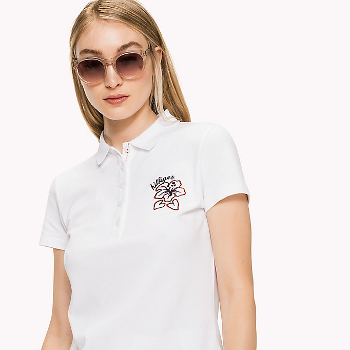 TOMMY HILFIGER NEW CHIARA HERITAGE STR PQ POLO SS - MIDNIGHT - TOMMY HILFIGER Women - detail image 2